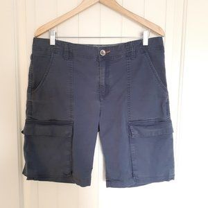 Horny Toad Swerve Cargo Shorts Blue Size 34